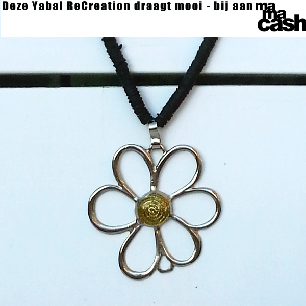 Ketting Flower4MC - geel medium