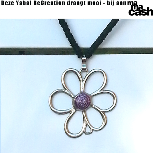 Ketting Flower4MC - paars medium
